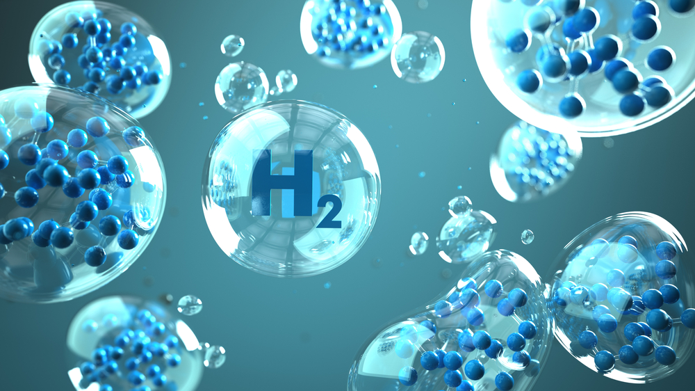 H2,Molecule,In,The,Bubbles,In,The,Liquid.,3d,Illustration.